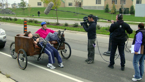 Couchbike in Discovery Channel Film Shoot