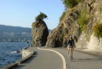The Seawall in Stanley Park