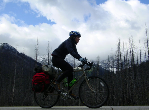 Cycling through Kootenay National Park