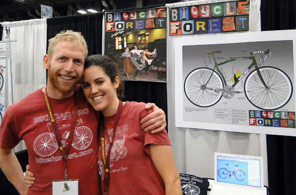Brent and Natalie manning the Bicycle Forest booth