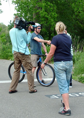 Gadget Show Film Shoot with the Bicycle Forest