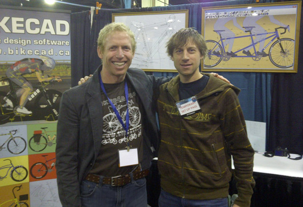 BikeCAD booth at NAHBS