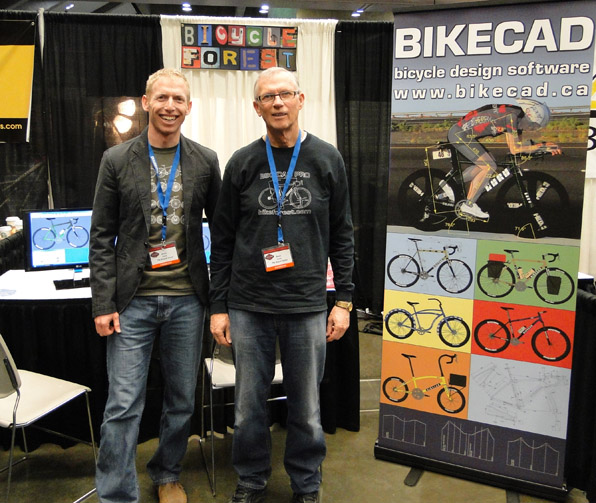 Brent and Bruce at BikeCAD booth at NAHBS 2012