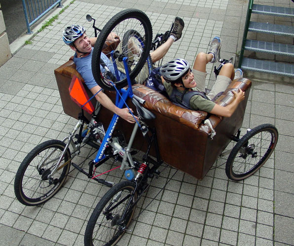 Couchbike loaded down