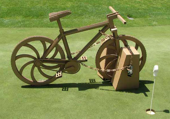 Cardboard BikeCAD model