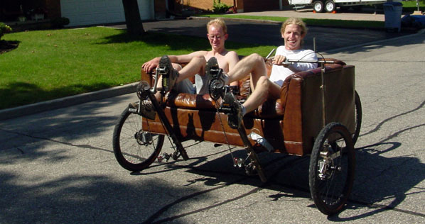 Eivind and Brent on Couchbike