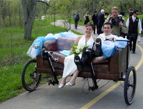 Couchbike wedding