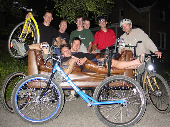 Couchbike bachelor party
