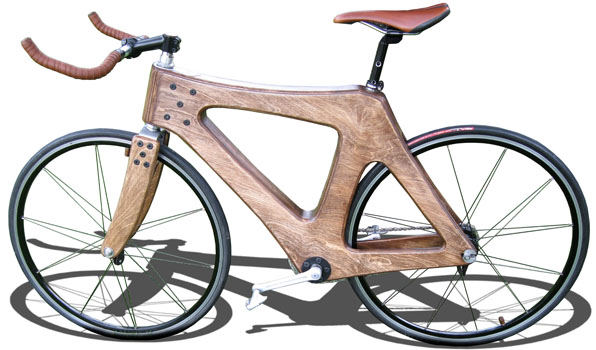 Enzo Esposito's wooden bicycle