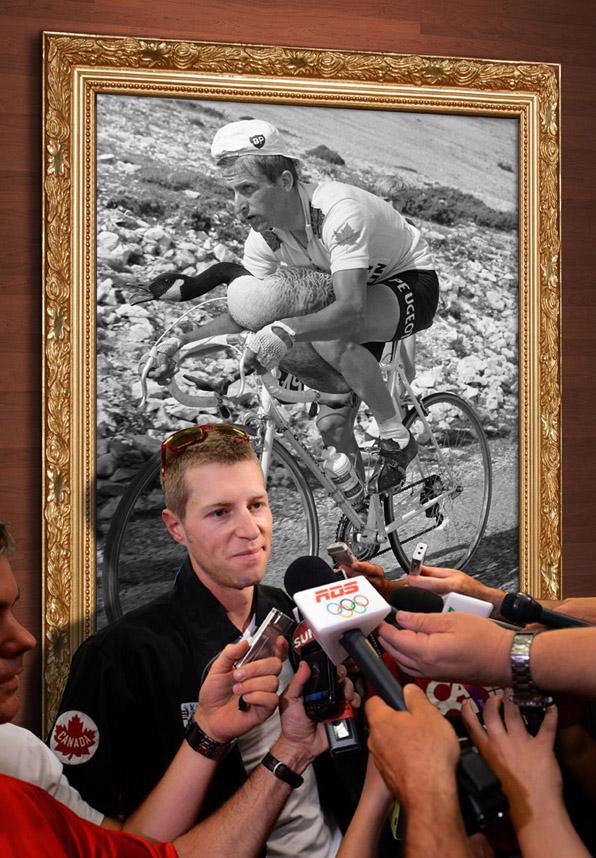 Ryder Hesjedal media scrum