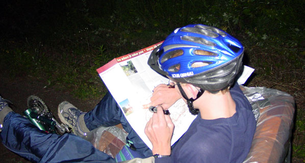 Night time navigation on the Couchbike