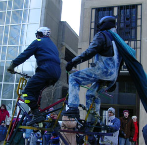 Tall tandem in Ottawa Toy Parade