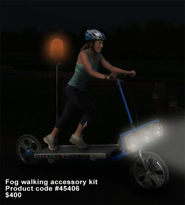 Treadmill Bike with Fog Walking Accessory Kit