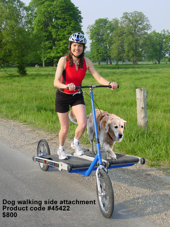 Treadmill Bike with Dog Walking Attachment