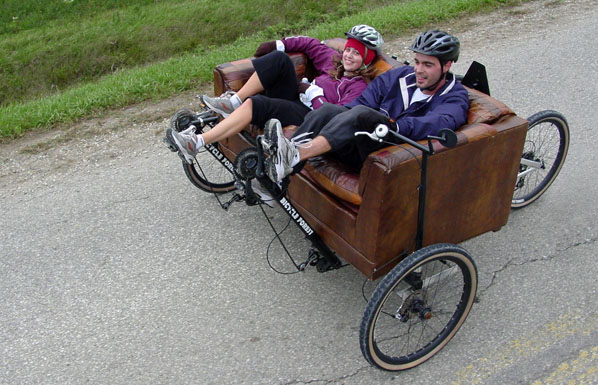 Couchbike Ride for Refugees