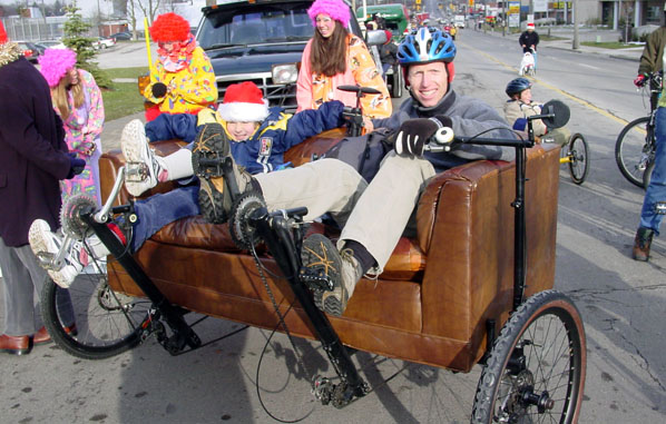 Couchbike in Santa Claus Parade