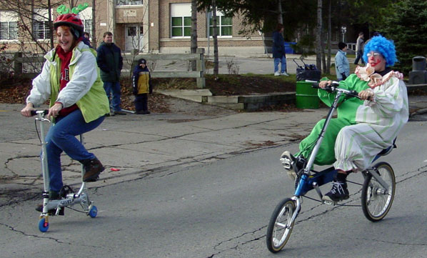 Bikes in Santa Claus Parade