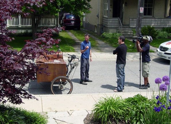 Boaz and the Couchbike on CBC news