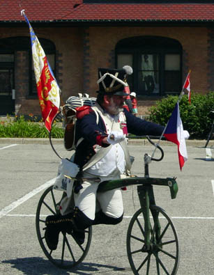 Soldier on a velocipede