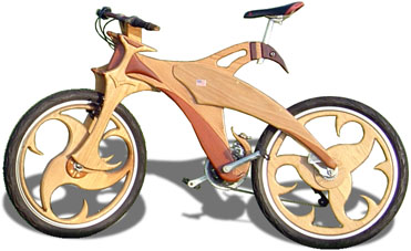 Wooden Mountain Bike